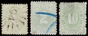 New South Wales Scott J2-J3, J9, Perf.12x10 (1891-92) U/M H F-VF, CV $610.75 M