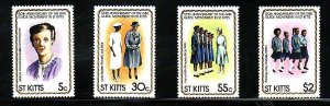 St Kitts-Sc#82-5- id7-unused NH set-Girl Guides-1981-