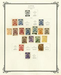 Latvia 1918 to 1930s Loaded Vintage Stamp Collection Hundreds of Stamps