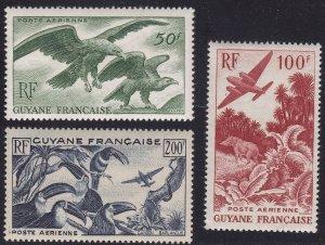 1947 Guyane Francaise - Yvert Pa N°35/37 Fauna MNH