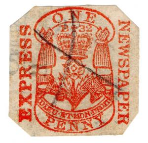 (I.B) QV Revenue : Newspaper Duty 1d (Express Newspaper)