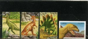 SIERRA LEONE 1998 PREHISTORIC ANIMALS/DINOSAURS SET OF 4 STAMPS MNH