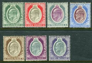 MALTA-1903-4  A mounted mint set to 1/- Sg 38-44