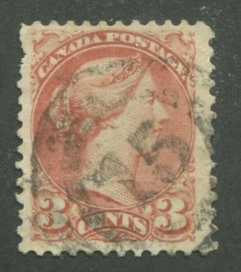 CANADA #37 USED SMALL QUEEN 2-RING NUMERAL CANCEL 15