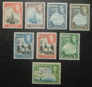 Bermuda 118-22. 1938-51 1p - 1/- KGVI pictorials