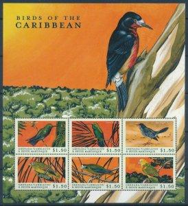 [108911] Carriacou & Petite Martinique 2000 Birds vögel Parrots Mini sheet MNH