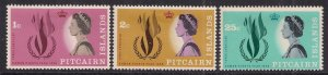 Pitcairn Island 1968 QE2 Set Human Rights Umm SG 85 - 87 ( B514 )