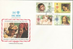 TURKS & CAICOS ISLANDS INTERNATIONAL YEAR OF CHILD FDC R202075
