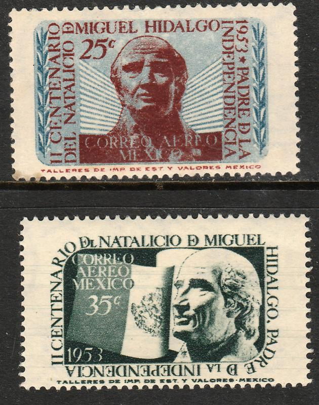 MEXICO C206-C207, Bicentennial of Miguel Hidalgo. MINT, NH. F-VF.