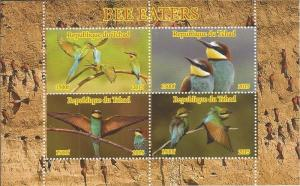 Chad MNH S/S Bee Eater Birds 2015