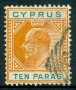CYPRUS : 1906. Stanley Gibbons #61c Broken Triangle. Very Fine, Used Catalog £80