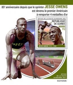 GUINEA - 2021 - Jesse Owens - Perf Souv Sheet -Mint Never Hinged