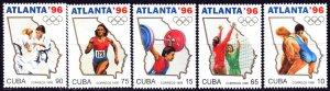 Cuba. 1995. 3842-47 from the series. Atlanta Summer Olympics. MNH.