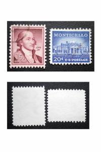 UNITED STATES STAMP. SCOTT # 1046  - 47.  USED.