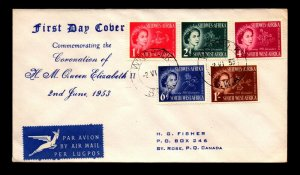 South West Africa 1953 QEII Coronation FDC - L13139