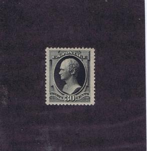 SCOTT # 190 UNUSED ORIGINAL GUM XLH 30 CENT JUMBO GEM, 1879, PSAG CERT. LOOK!