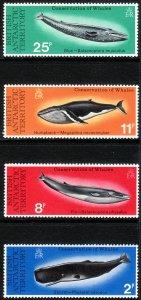 1977 BAT British Antarctic Whales complete set MNH Sc# 64 / 67 CV $28.25