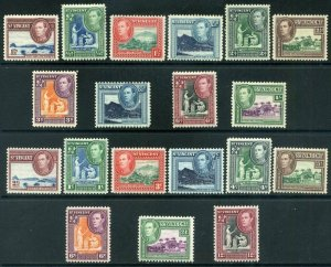 St Vincent KGVI 1938-49 Part Sets SG149/156 & SG164/172 Mounted Mint