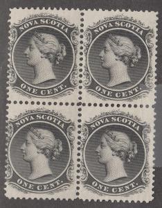NOVA SCOTIA #8 MINT BLOCK OF 4   VF   NH