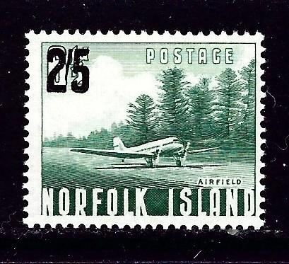 Norfolk Is 27 Lightly Hinged 1960 Surcharge