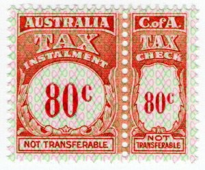 (I.B) Australia Revenue : Tax Instalment 80c