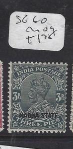 INDIA  NABHA   (P2508B)   KGV   3P  SG 60       MOG