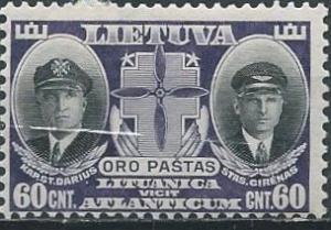 Lithuania C81 (mh) 60c Darius & Girenas, pilots, dk vio & black (1934)