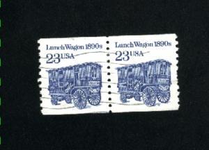 USA #2464  used pair 1990-95 PD .12