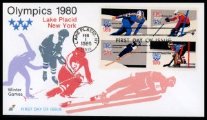 US FDC #1798b 15c Winter Olympic Games - Spectrum Cachet