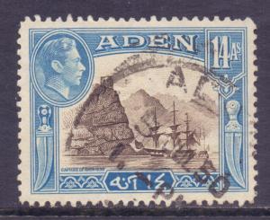 Aden Scott 23a - SG23a, 1939 George VI 14a used