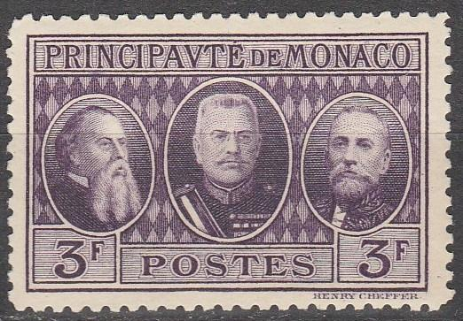 Monaco #102  F-VF Unused  CV $2.50  (A13067)