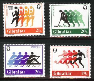 Gibraltar Scott 461-464 MNH**  1984 Sports set