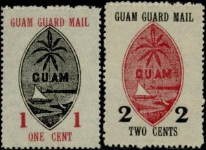 GUAM #M3-4 -- XF -- PERF 12 ISSUED WITHOUT GUM CV $195.00 BQ797