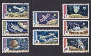 Hungary  #C287-C294  MNH 1969  space station  Apollo  lunar module