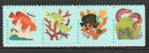5363-66 Coral Reefs Horizontal Strip Of 4 Mint/nh FREE SHIPPING