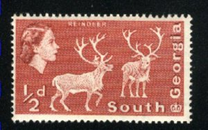South Georgia #1   Mint  NH  1963-69 PD