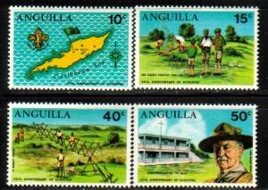Anguilla Boy Scouts 40th Anniv., Anguilla SC#95-98 MNH set