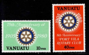 VANUATU Scott 293-294  MNH** Rotary International set