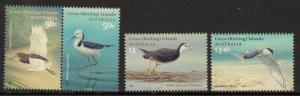 COCOS (KEELING) ISLANDS SG434/7 2008 VISITING BIRDS MNH