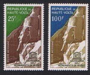 Upper Volta Nubian Monuments Preservation 2v 1964 MNH SG#140-141