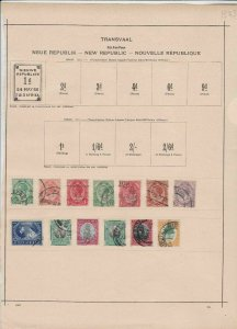 transvaal stamps ref 11161