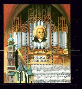 Guinea-Bissau 662 MNH 1985 Johann Sebastian Bach S/S