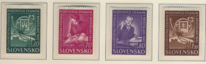 Slovakia Stamps Scott #70 To 73, Mint Never Hinged - Free U.S. Shipping, Free...