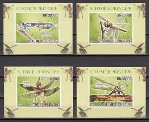 St. Thomas, 2008 issue. Dragonflies issue as 4 Deluxe s/sheets. ^