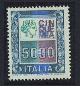 Italy 5000L Definitive High Value High Cat Value 1978 MNH SG#1582 MI#1635