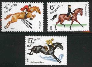 Russia Scott 5016-5018 MNH** Equestrian sports set