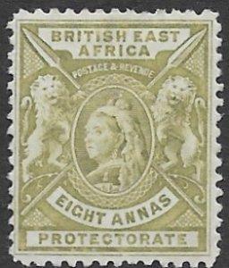 British East AFrica 82   8 annas  fine mint ( no gum )