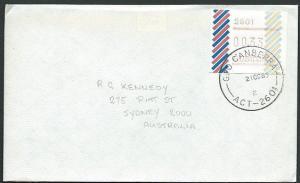 AUSTRALIA 1985 (21 OCT) 33c Frama on cover ex CANBERRA...........39227