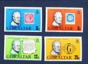 GIBRALTAR - # 378-381 - MNH  - Rowland Hill, stamp-on-stamp, 1979