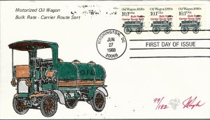 Beautiful Pugh Painted Oil Wagon Coil FDC -only 182 created...
